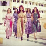 Фотосессия брендовой линейки платьев Анны Чапман Россия