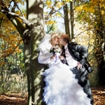 красивые осенние свадебные фотосессии на природе за городом