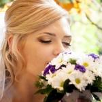 нежные портреты невесты с букетом роз