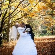 осенние фотосессии свадеб в лесу