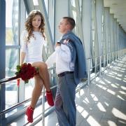 примеры свадебных фотосессий в Харькове на мосту Гагарина