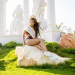королева конкурса Мисс Евразия Айоми Ким, уличный фотосет